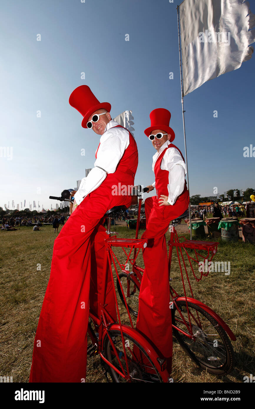 Glastonbury 2010 Stock Photo