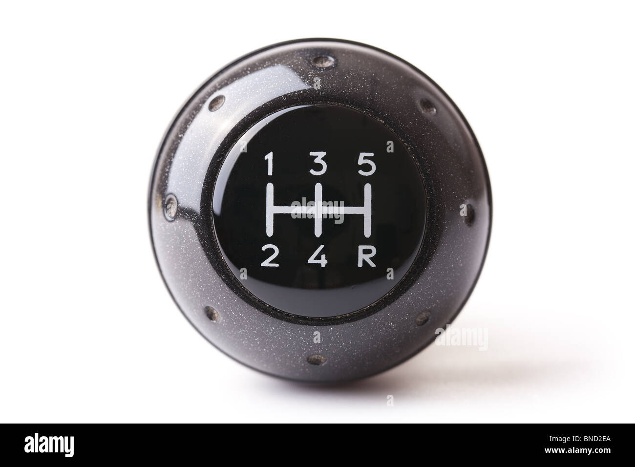 gearshift on white background - Stock Image