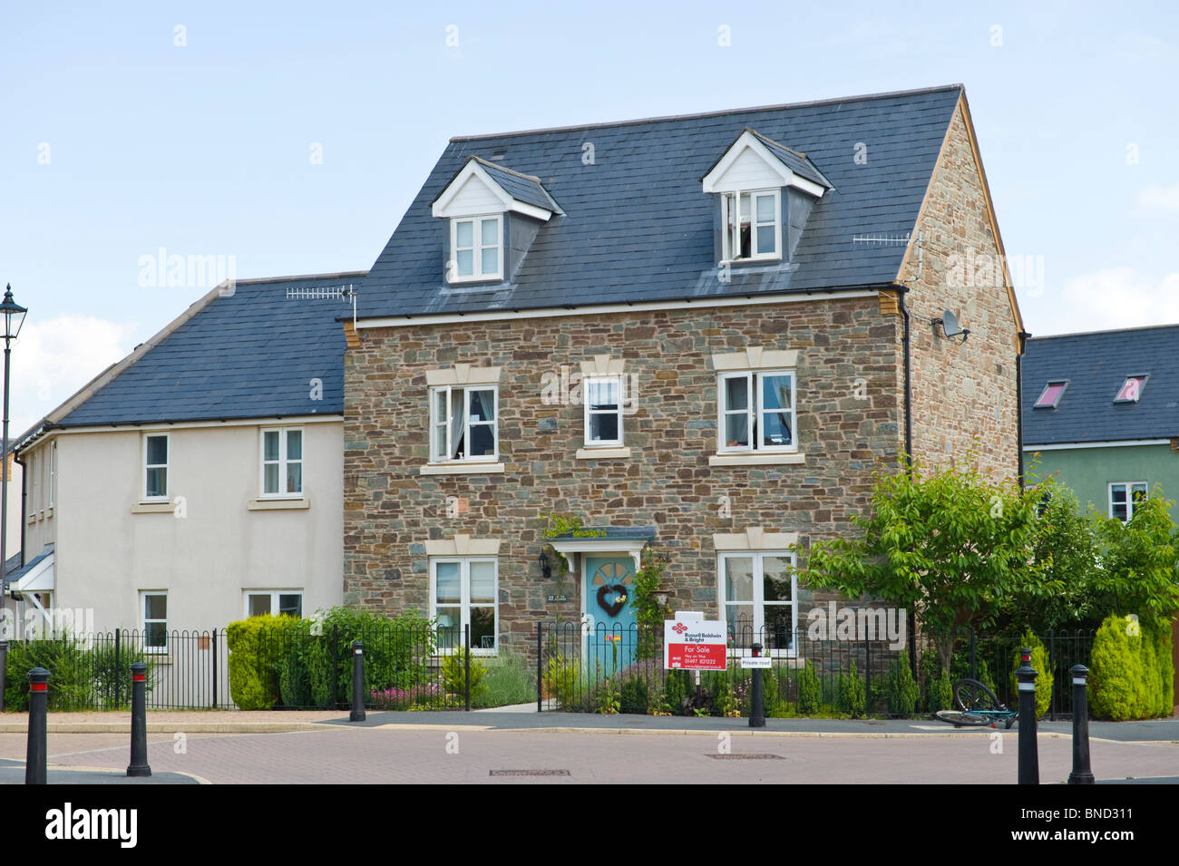 Large house for sale in Hay-on-Wye Powys Wales UK - Stock Image