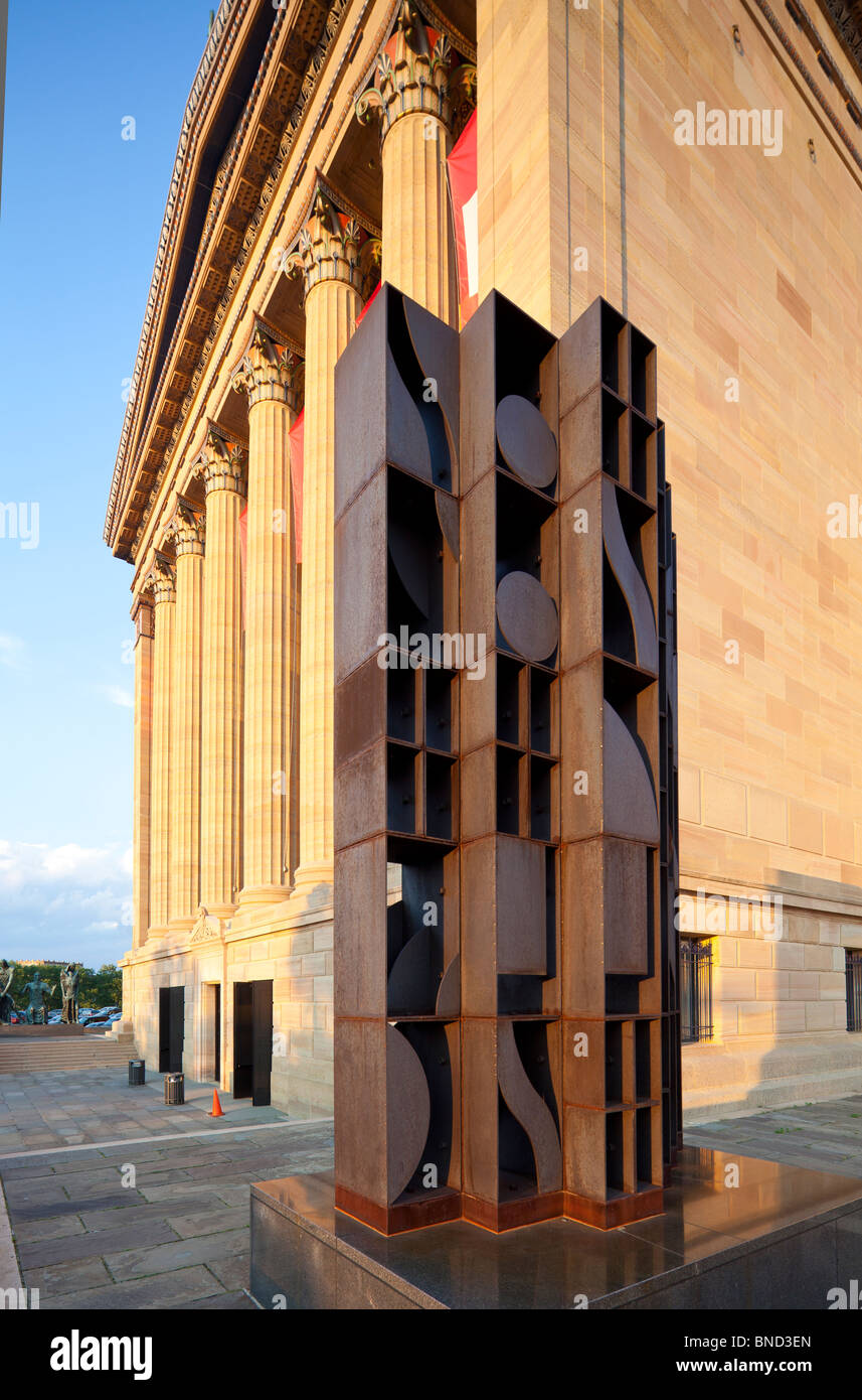 Atmosphere and Environment XII, sculpture by Louise Nevelson, 1970, Philadelphia Museum of Art, Philadelphia, Pennsylvania, - Stock Image