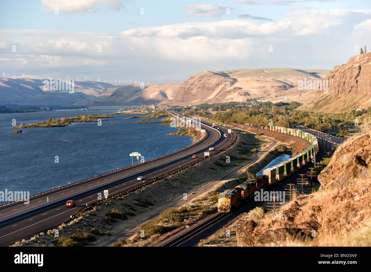 Columbia River Gorge. - Stock Image