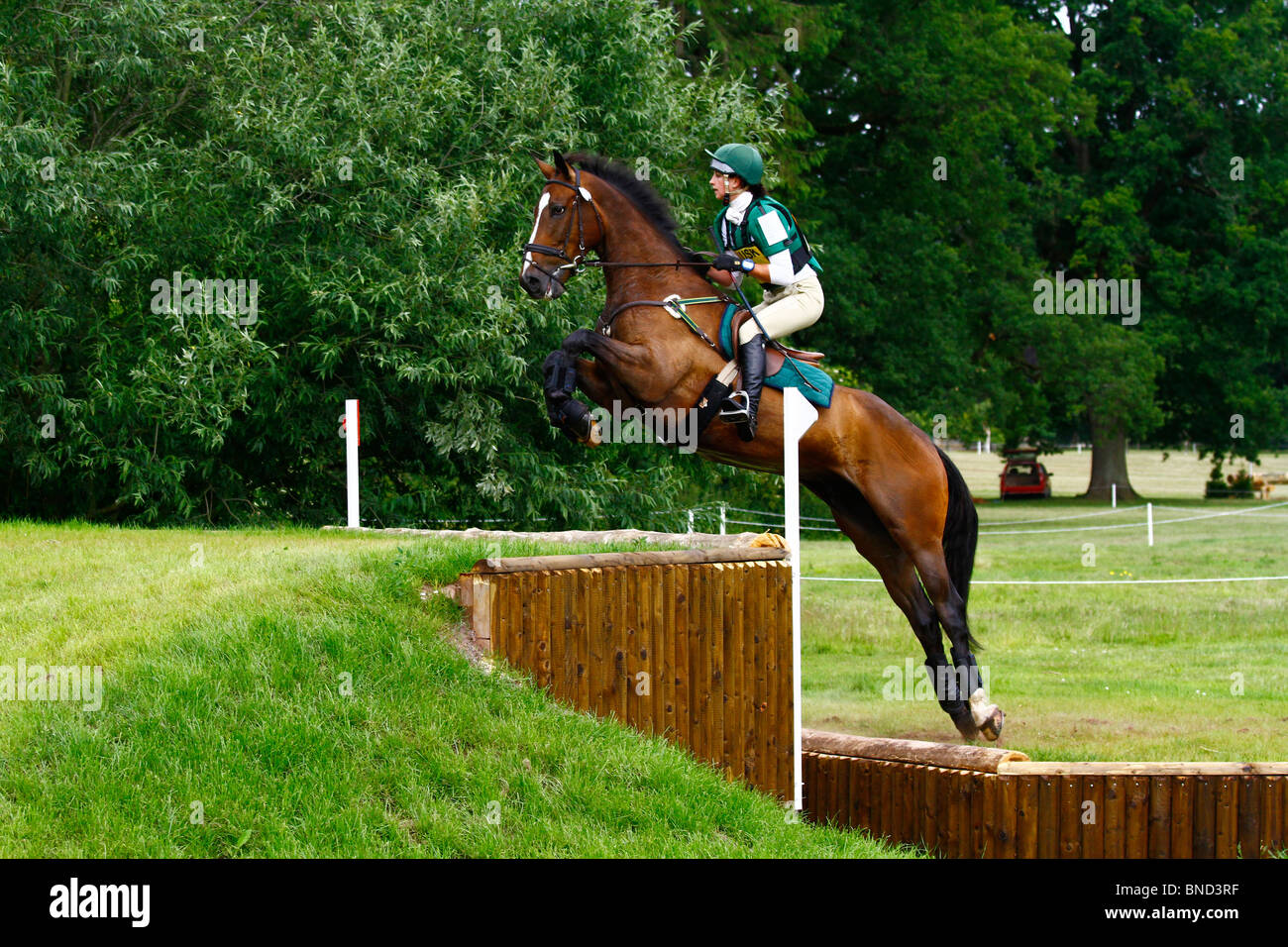 Horses jumping cross country - photo#50