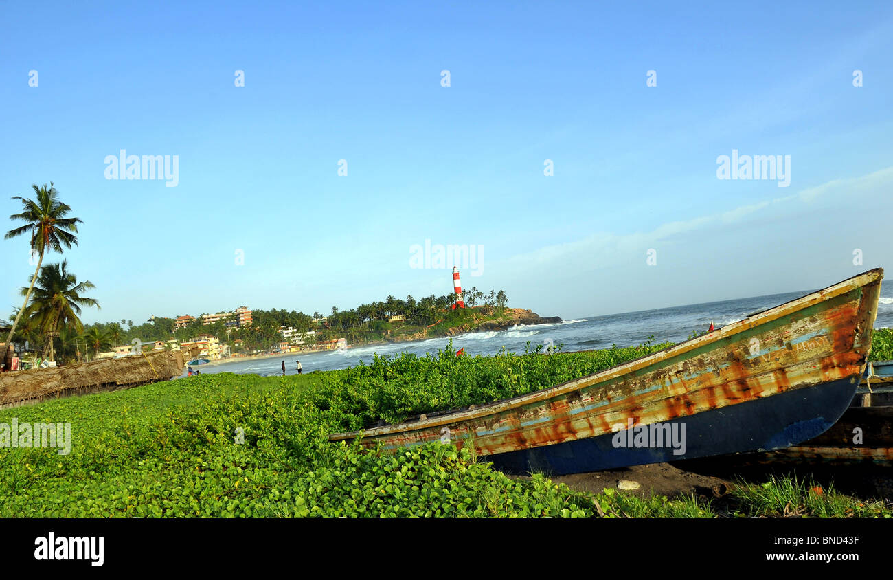 Kovalam Tourist Village, Kovalam beach is known as the 'Paradise of the South'. - Stock Image