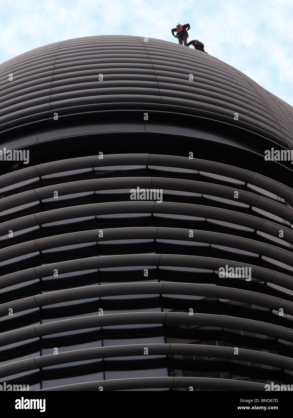 the Walbrook offices of  Vanguard Asset Management and Worldpay headquarters building London, architect Foster Partners, - Stock Image