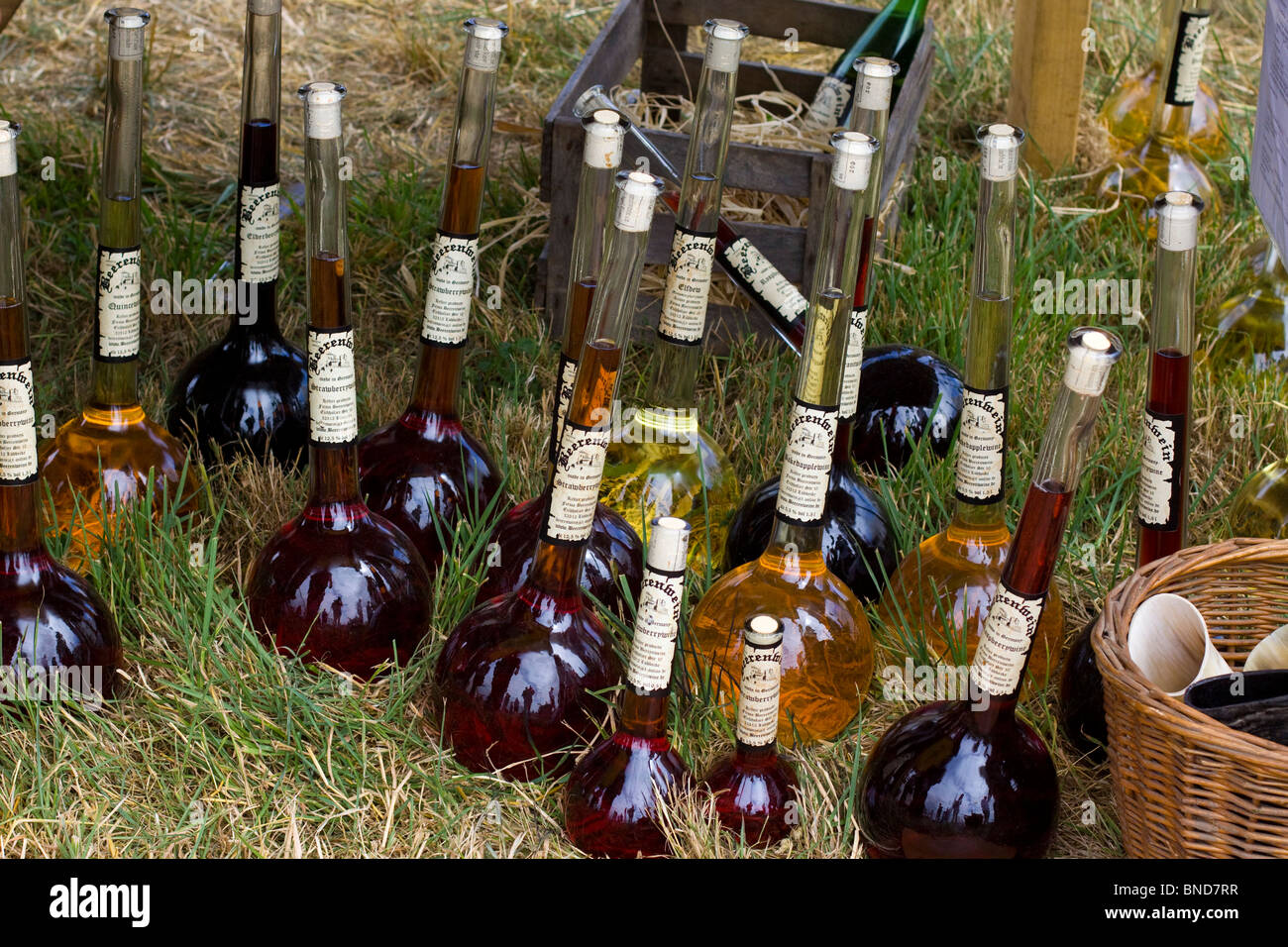 Alcoholic Beverages at a Festival In Tewksbury - Stock Image