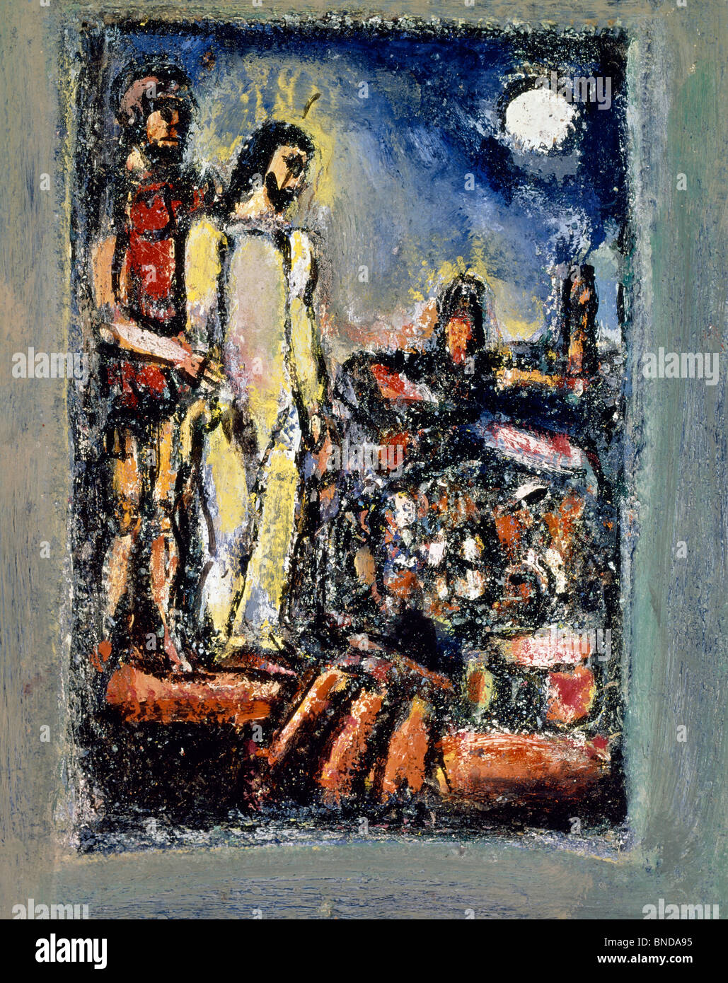 Scene of the Passion: Arrest of Christ by Georges Rouault, (1871-1958), USA, Texas, Private Collection - Stock Image