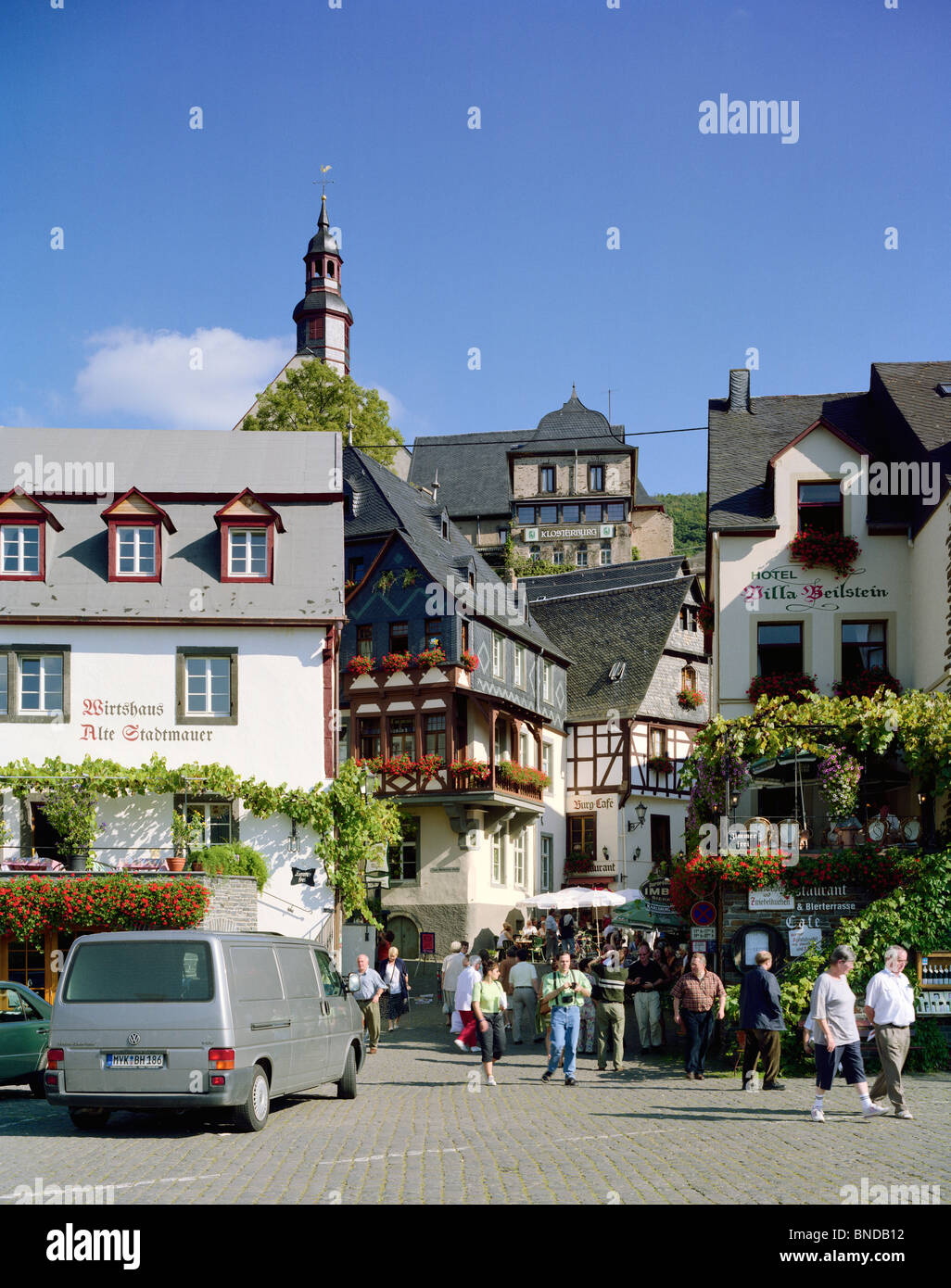 Medieval town Beilstein Mosel Germany - Stock Image