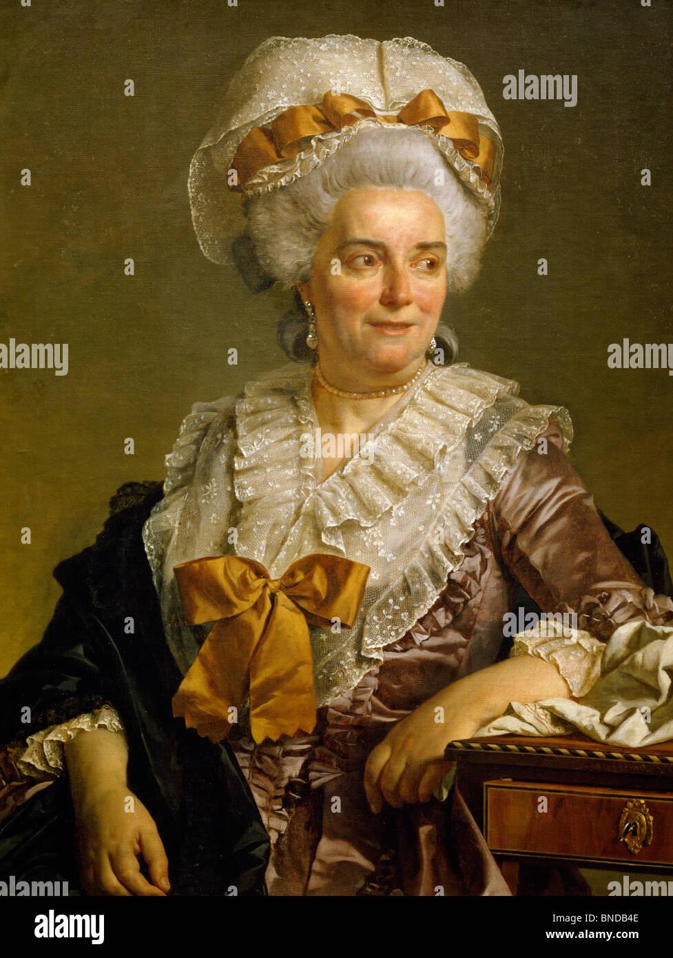 Portrait Of Madame Pecoul By Jacques Louis David 1784