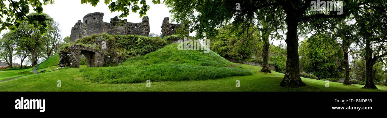 Dundrum Castle County Down Northern Ireland - Stock Image