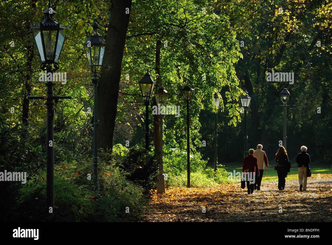 Grosser Tiergarten, museum of old lanterns, Berlin Tiergarten, Berlin, Germany, Europe. - Stock Image