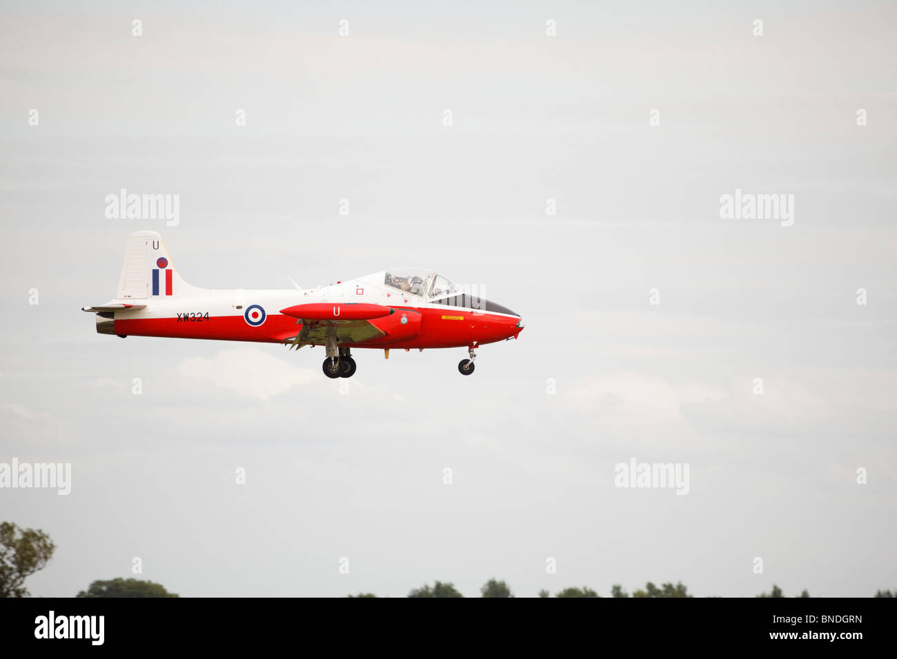 Jet Provost T5A, XW324 RAF Waddington International Airshow - arrivals 02 July 2010 Stock Photo