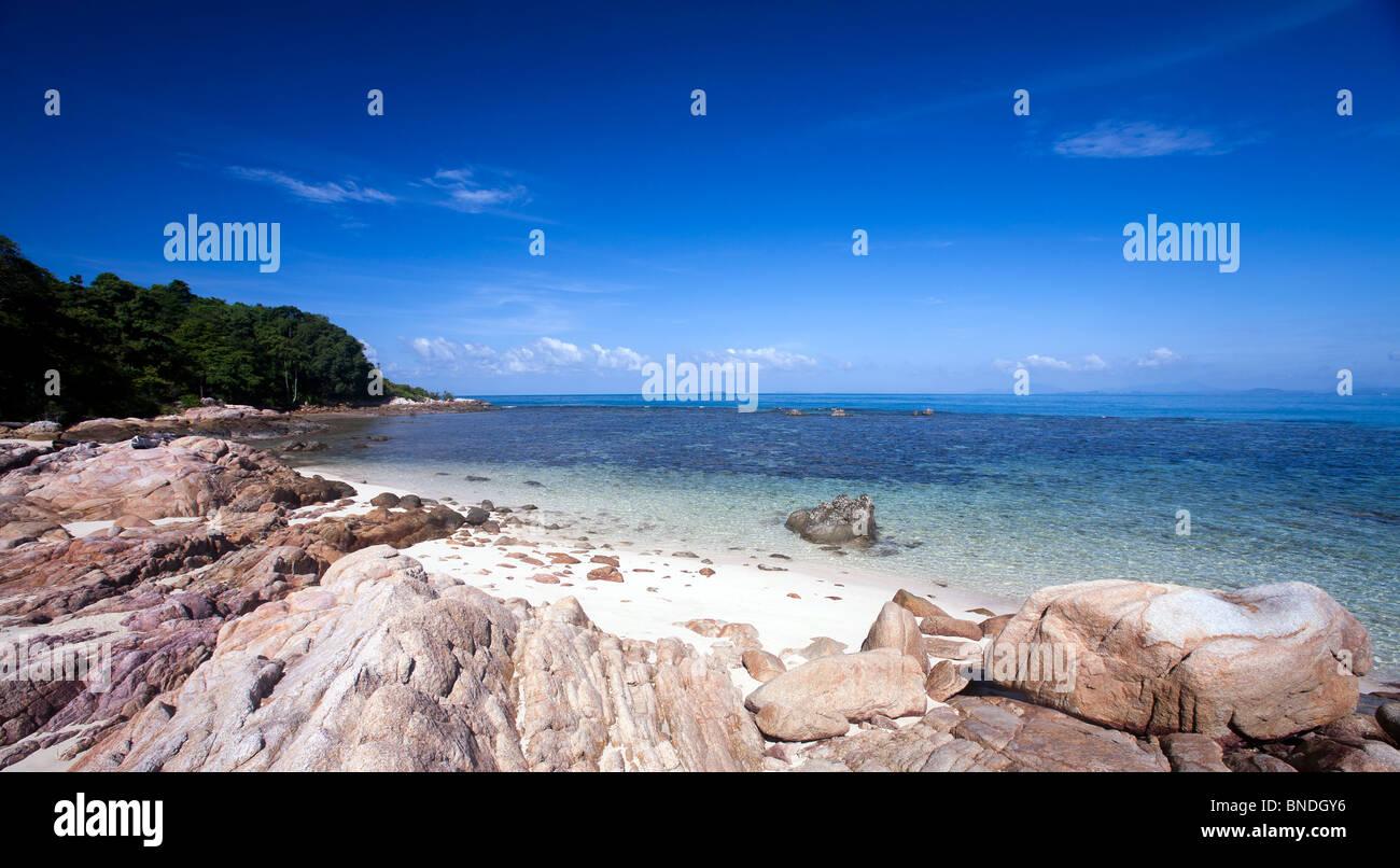 Beautiful beach at Mun Nork Island, Rayong, Thailand. - Stock Image