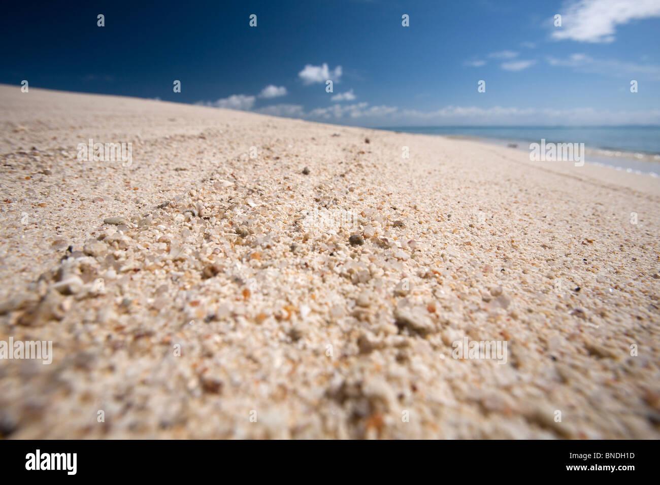 White sand beach on Mun Nork Island, Rayong, Thailand. - Stock Image