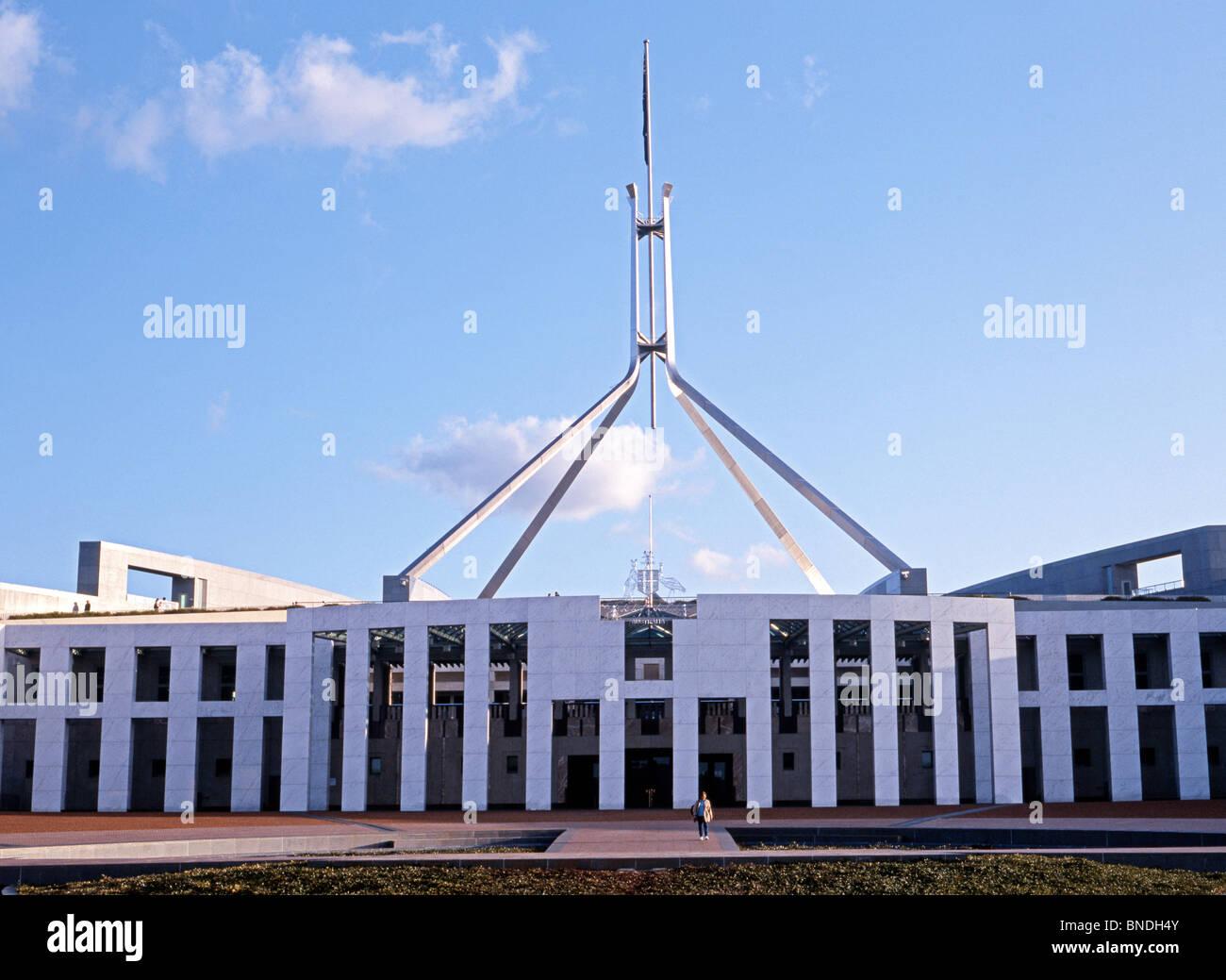 parliament building canberra australian capital territory stock