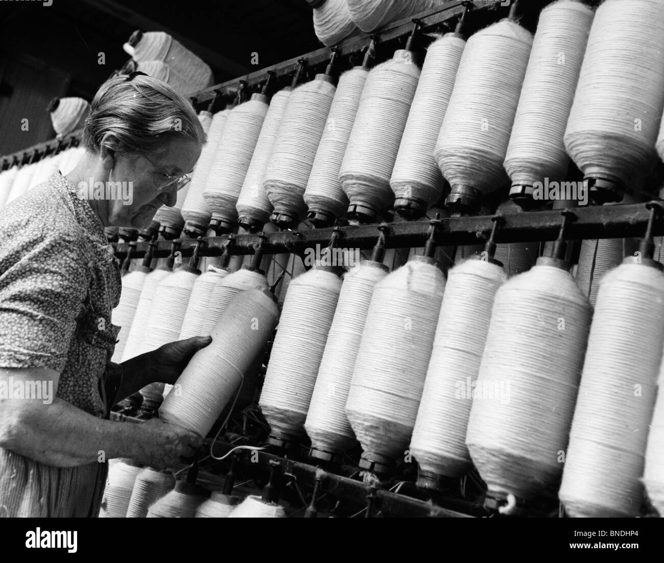 Cotton Factory: Woman Working In Cotton Mill Stock Photos & Woman Working