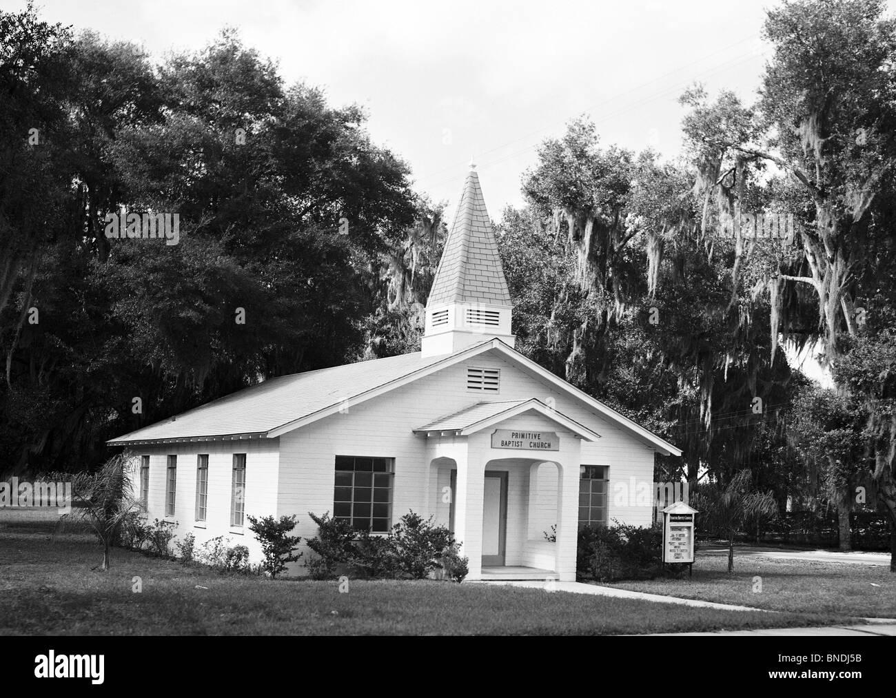 Facade of a church, Deland Primitive Baptist Church, Deland, Florida, USA - Stock Image