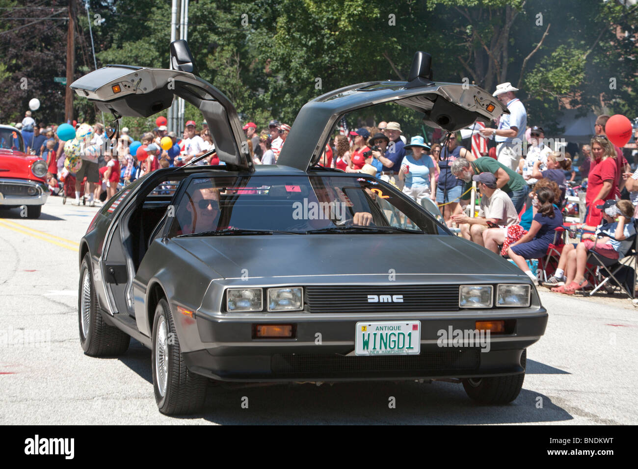 Amherst New H&shire - A DeLorean sports car with gull-wing doors in the & Gull Wing Doors Stock Photos \u0026 Gull Wing Doors Stock Images - Alamy