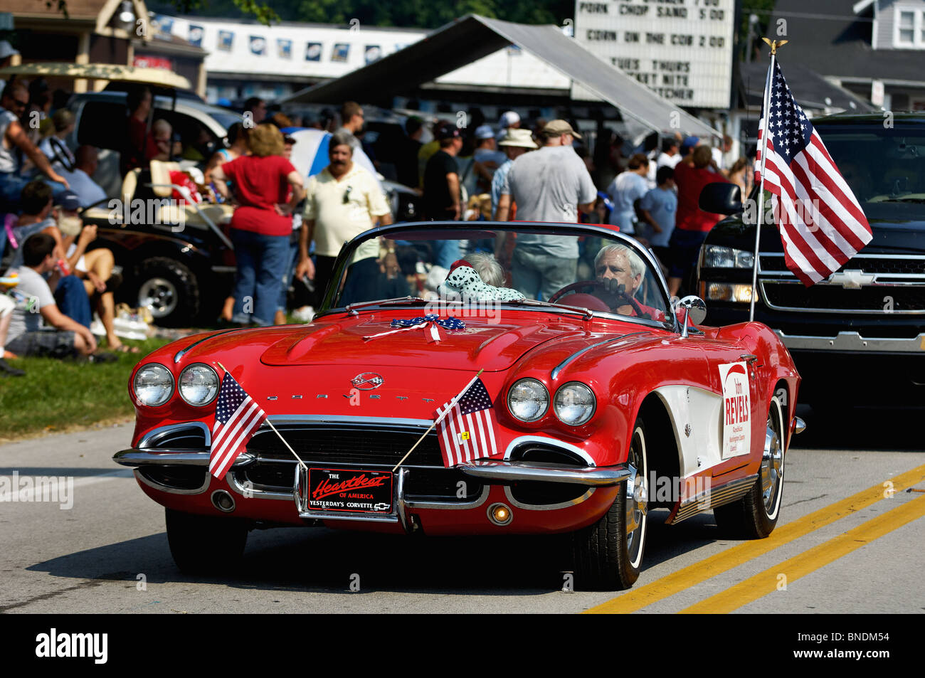 Red 1962 Chevrolet Corvette In Oldest Continuous Independence Day