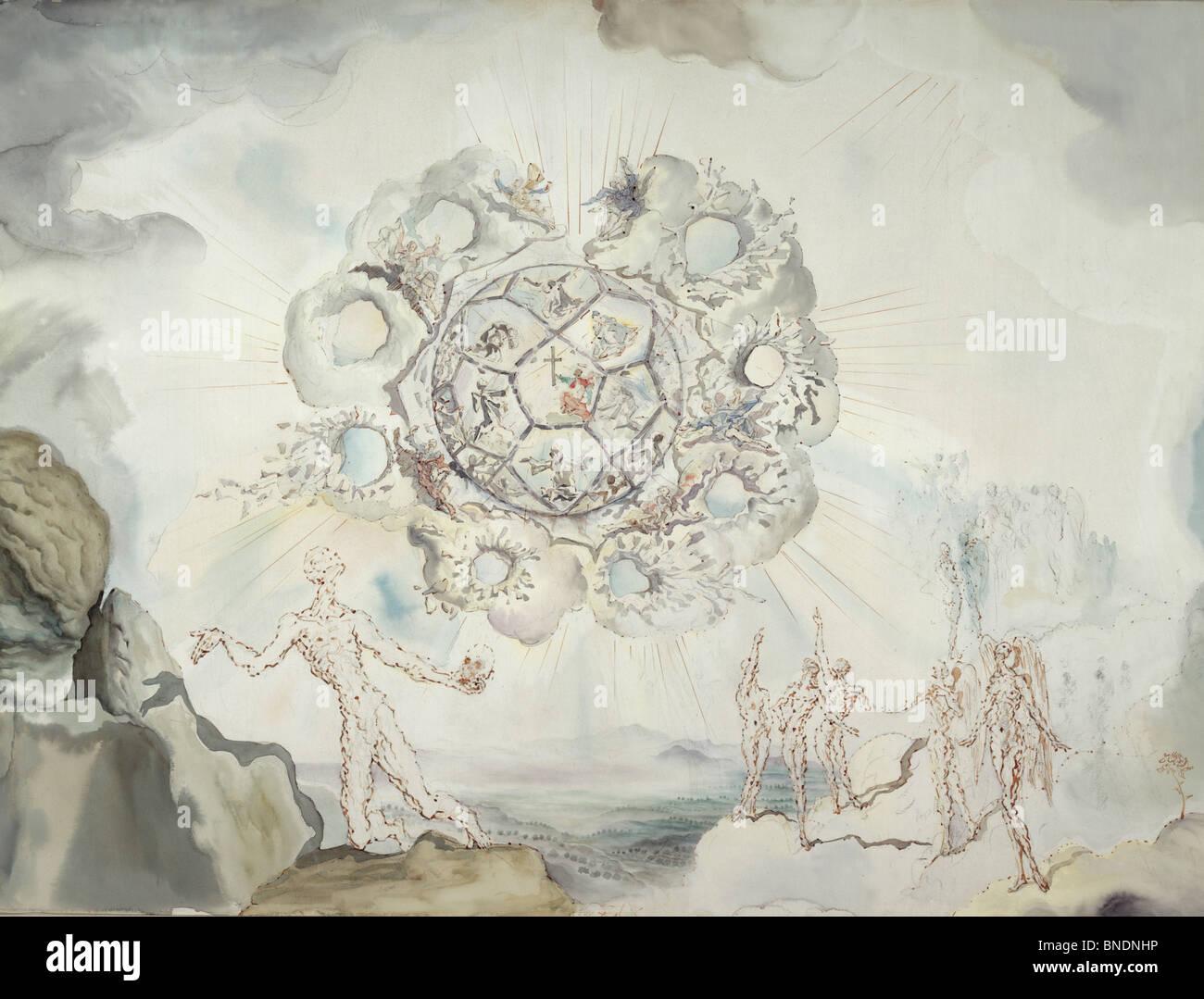 Cosmic Contemplation by Salvador Dali, 1904-1989, USA, Florida, St. Petersburg, Salvador Dali Museum - Stock Image