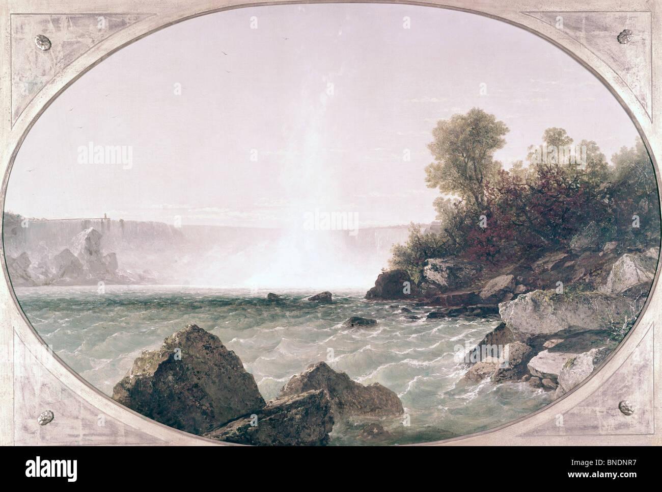 Niagara Falls by John Frederick Kensett, (1816-1872) Stock Photo