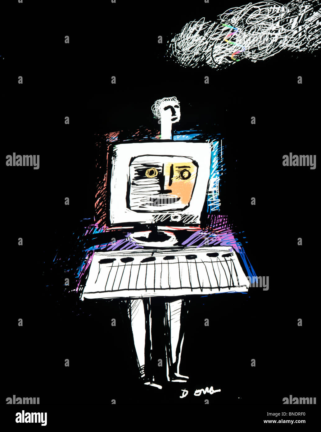 Florida Tales Series  1995  Diana Ong (b.1940 Chinese-American)  Computer graphics - Stock Image