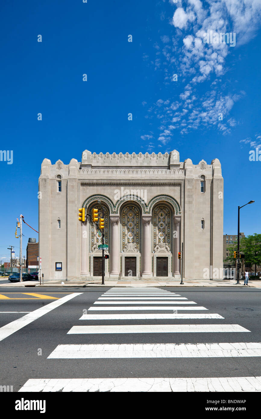 facade of Rodeph Shalom Synagogue, 607-615 N. Broad St., Philadelphia, Pennsylvania, USA - Stock Image