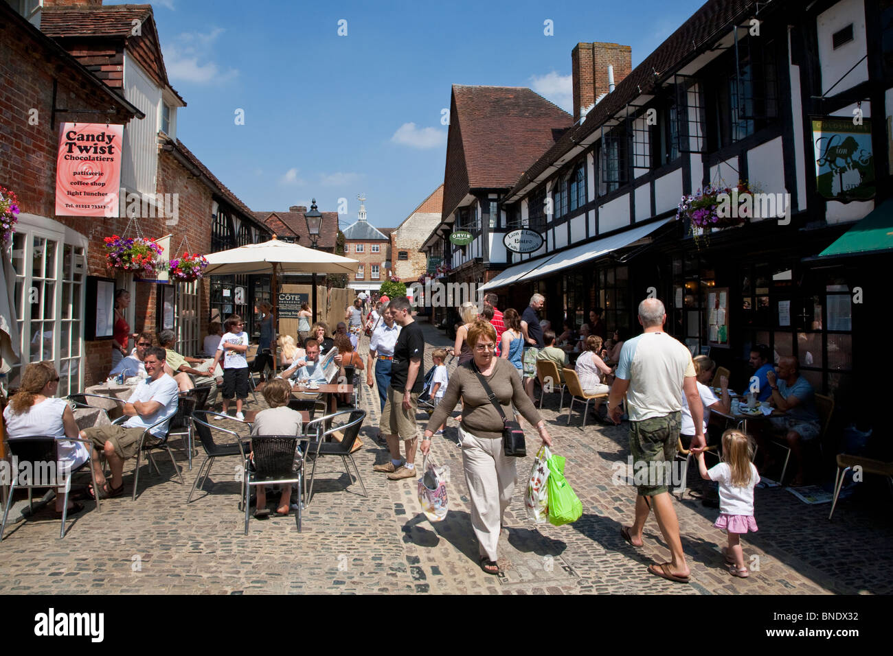 Lion and Lamb Yard, Farnham Surrey - Stock Image