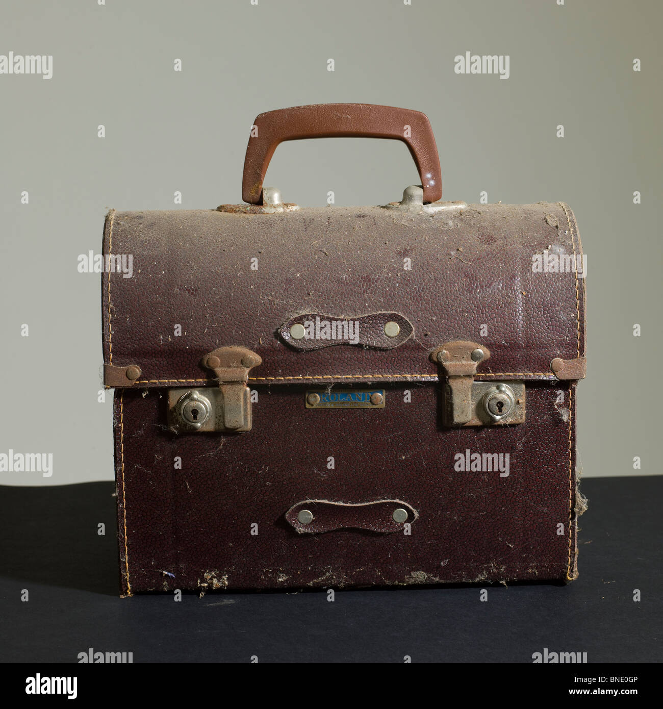 Old Leather Bowling Ball Case Stock Photo 30425942 Alamy