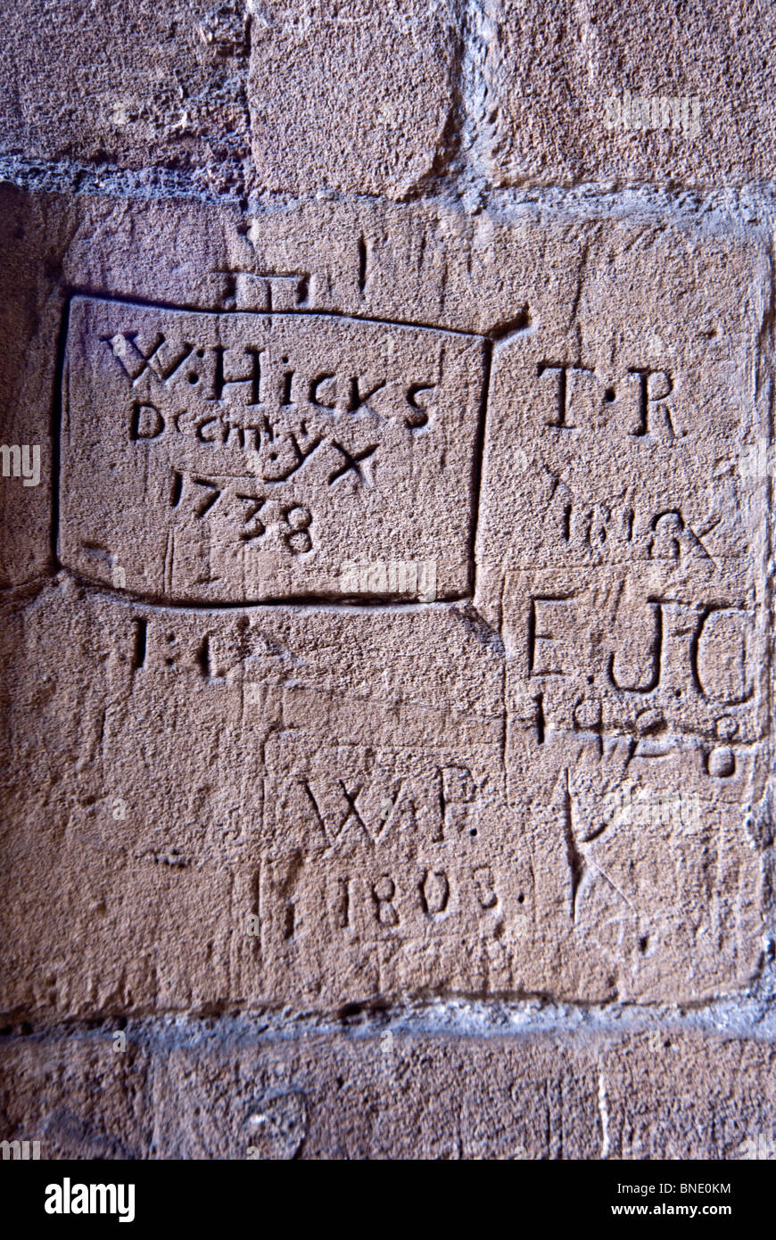 Ancient Graffiti On The Wall Of The Church Of Oxford