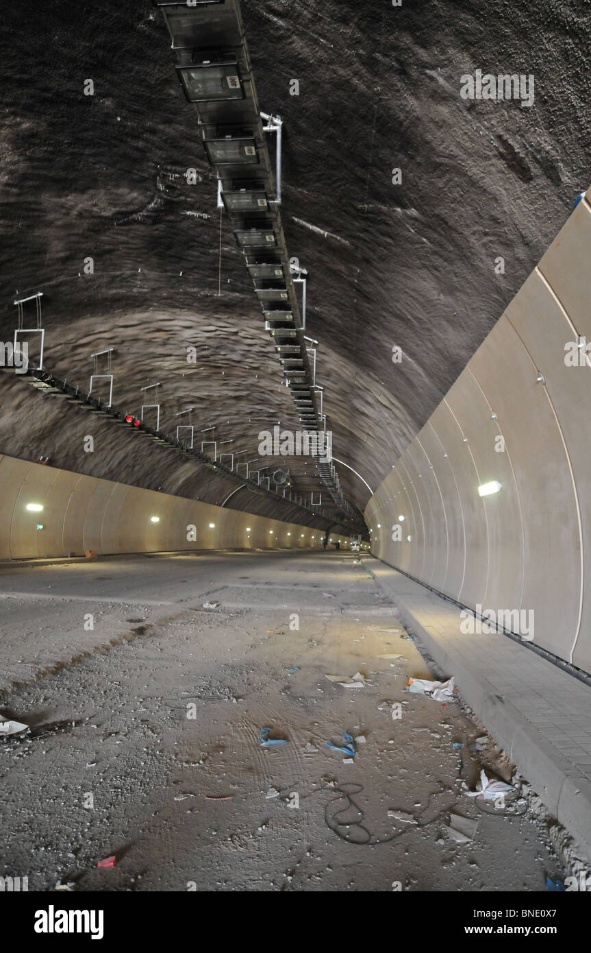 Israel, Haifa, The Carmel Tunnels. A 6.5 Km highway being built under the Carmel Mountain (4.7 Km of tunnelling - Stock Image
