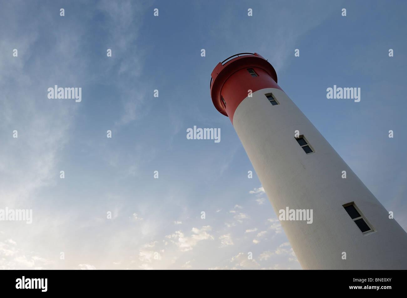 Lighthouse at Umhlanga Rocks Durban, Kwazulu Natal, South Africa - Stock Image