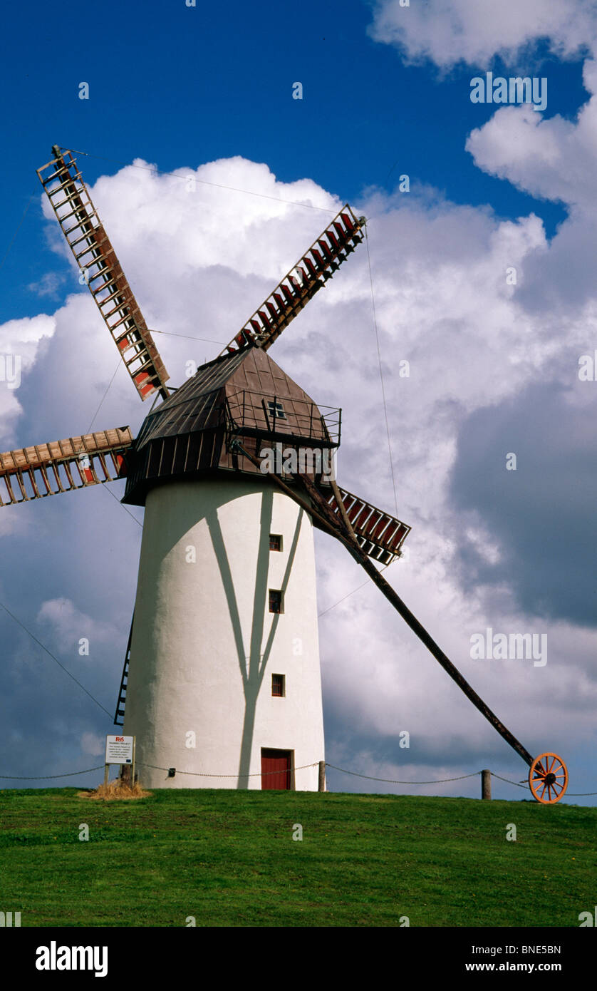 Low angle view of a traditional windmill, Skerries Mills Museum, Skerries, County Dublin, Ireland Stock Photo