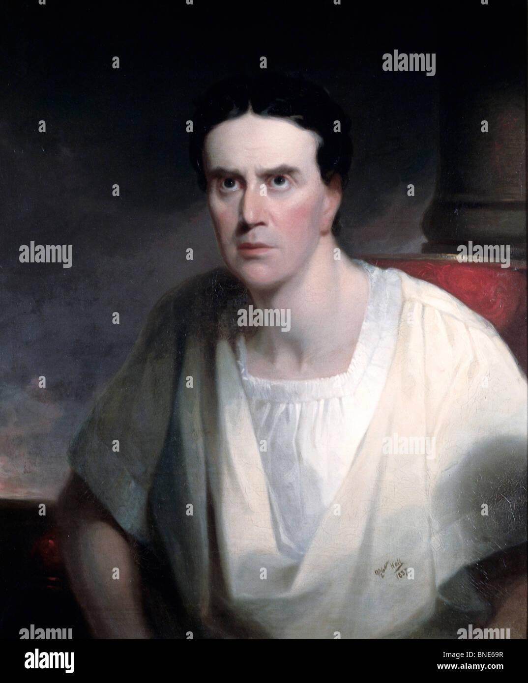 Shakespearean Actor,  artist unknown,  oil on canvas,  (19th C.),  USA,  Pennsylvania,  Philadelphia,  David Daivd - Stock Image
