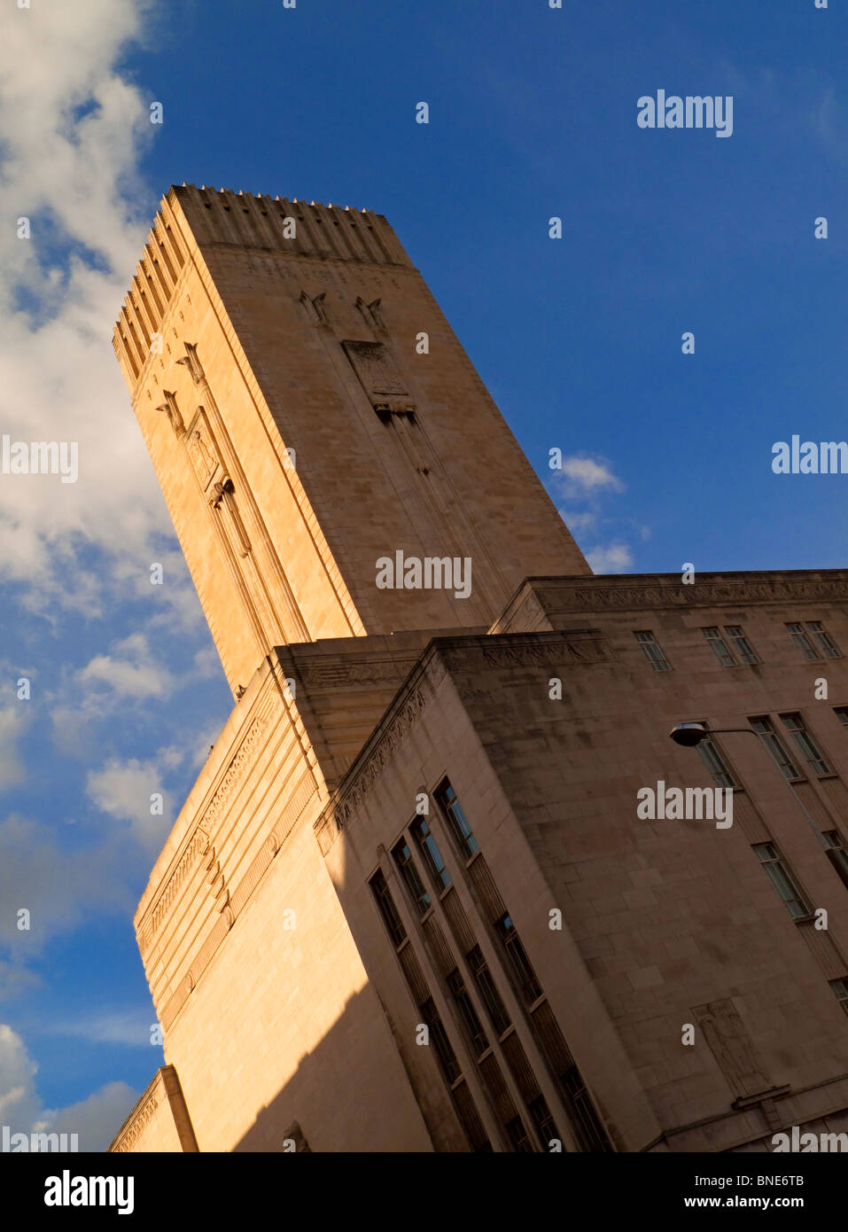 George's Dock Ventilation and Control Station, Pier Head, Liverpool, England designed by Herbert James Rowse - Stock Image