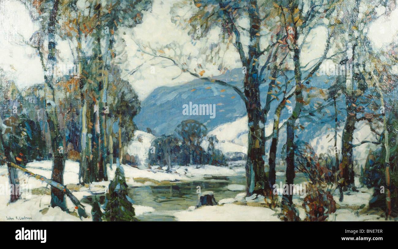Inland Snow by John Fabian Carlson,  oil on canvas,  (1874-1945),  USA,  Pennsylvania,  Philadelphia,  David David - Stock Image