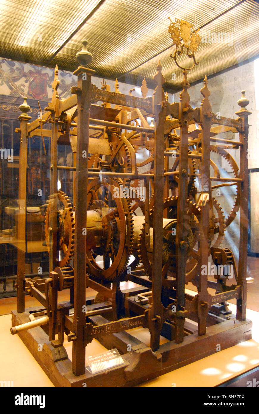 Geared machine inside the Mezquita, Cordoba, Cordoba Province, Andalucia, Spain, Western Europe. - Stock Image