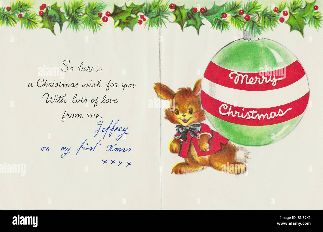 TO MOTHER AT CHRISTMAS inside of Hallmark Xmas card from 1950s to a ...