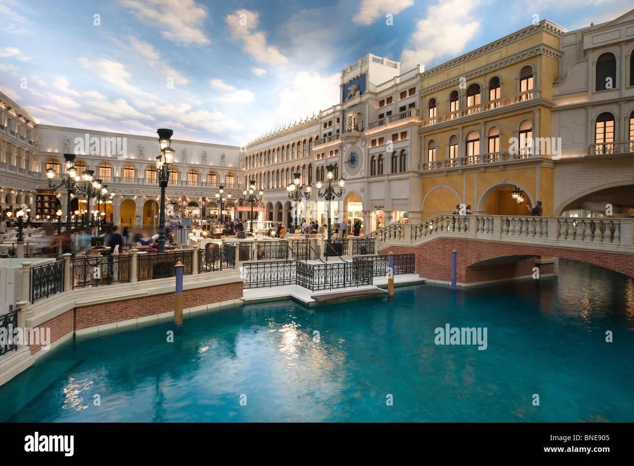 The Venetian Las Vegas Replica Venice Setting Canal Water