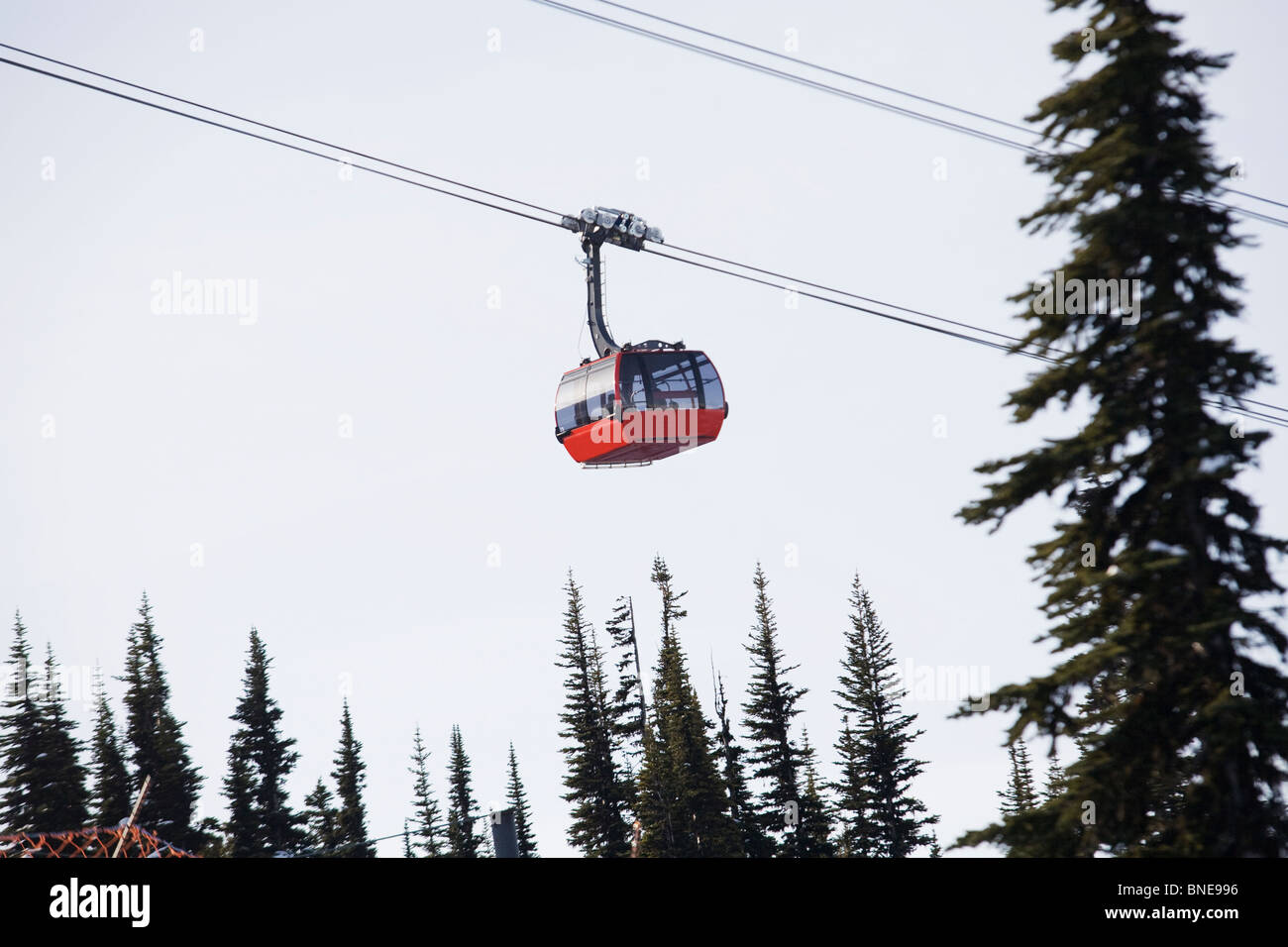 Gondola at Whistler ski resort. Stock Photo