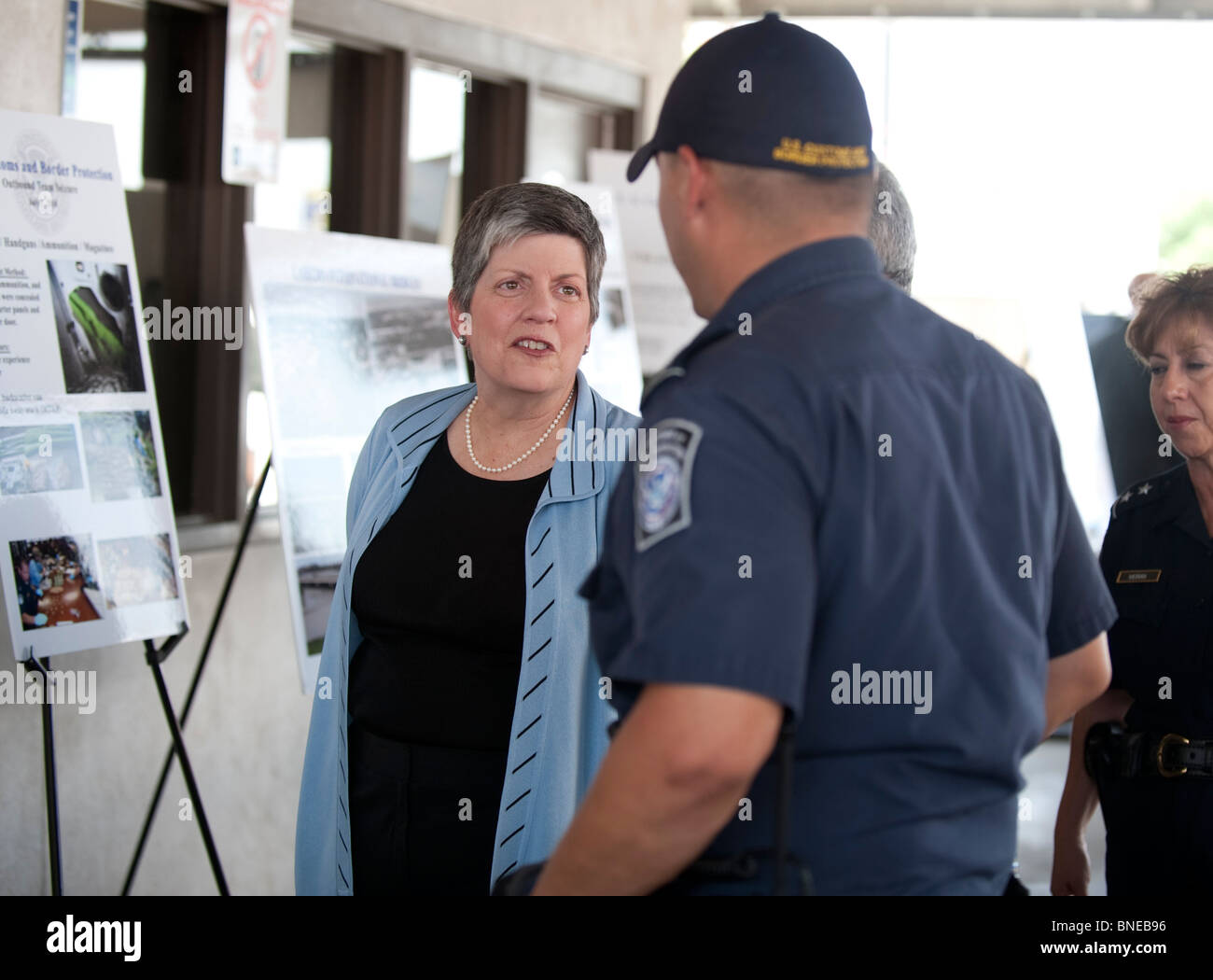 U.S. Secretary of Homeland Security Janet Napolitano tours the Laredo, Texas, Port of Entry - Stock Image