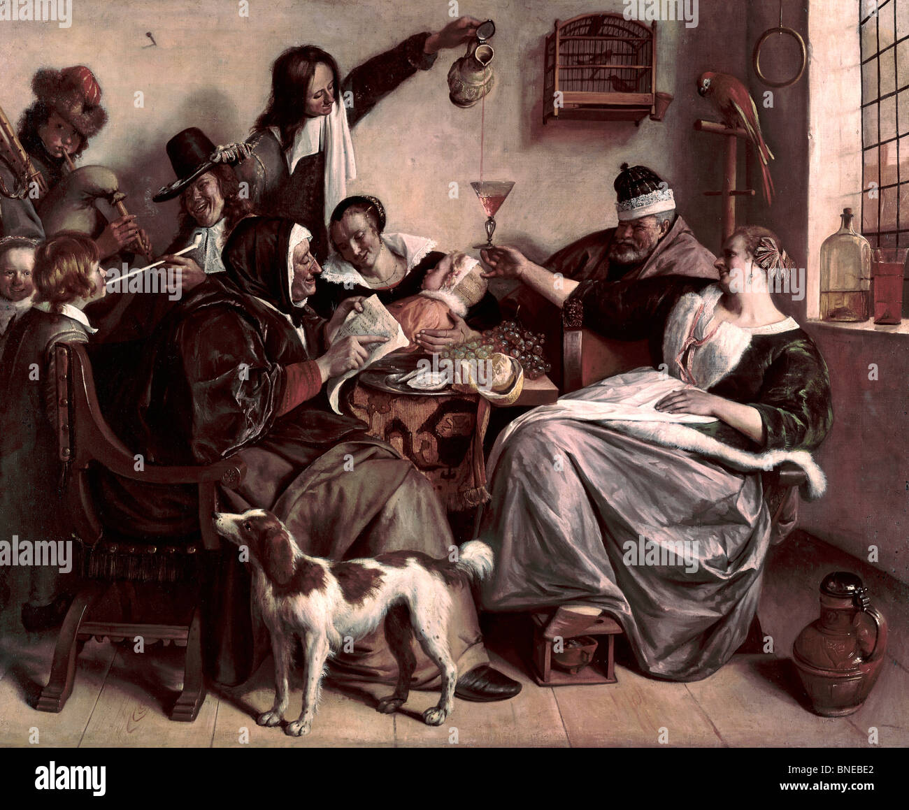 Merry Company by Jan Steen, (1626-1679)