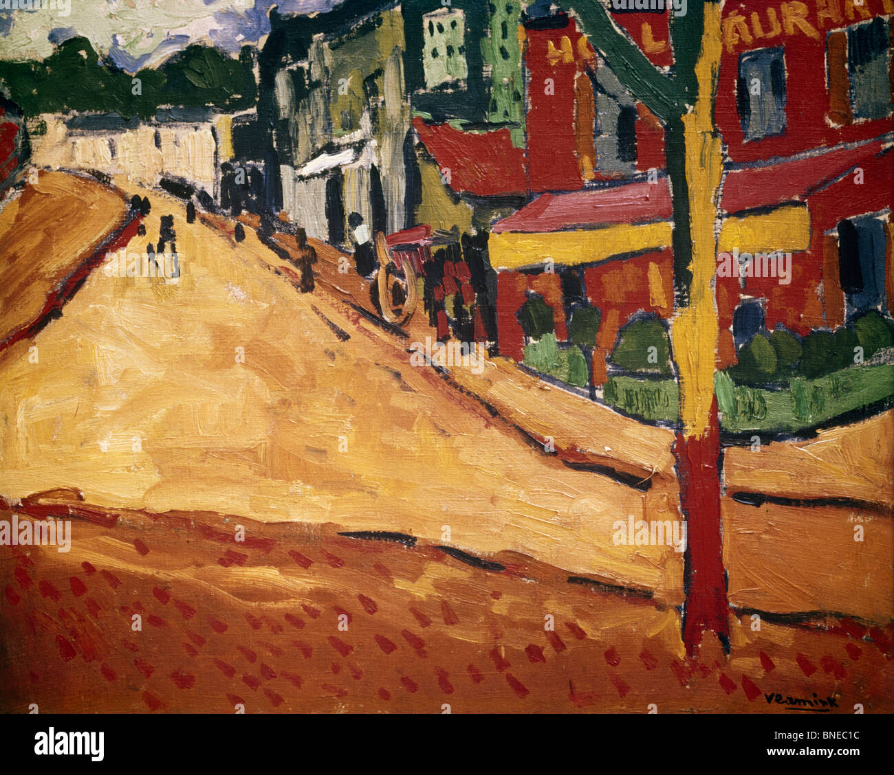 Street At Marly Le Roi, Vlaminck, Maurice de (1876-1958/French) - Stock Image
