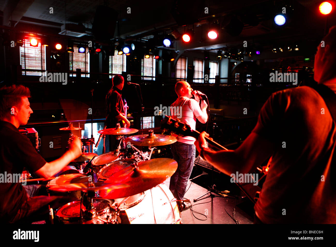 Live music by Mr Ben at The Jam House, The Jewellery Quarter, Birmingham, West Midlands, England, UK - Stock Image
