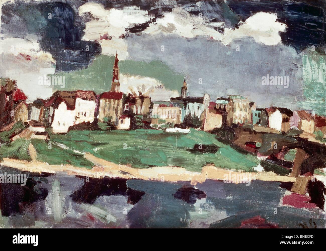 New City Of Dresden Iii By Oskar Kokoschka 1886 1980