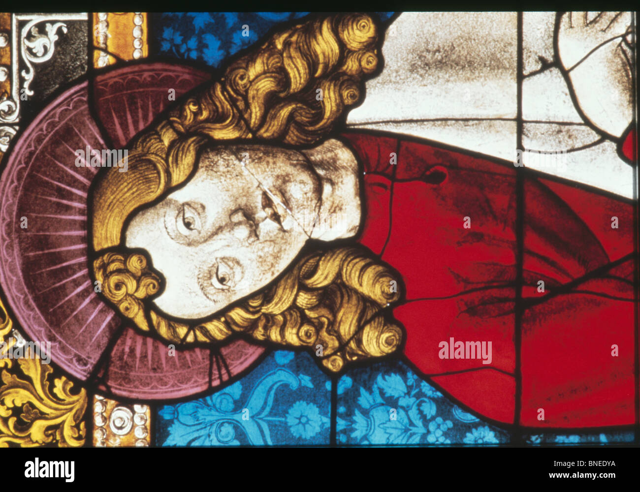 Swabian Panels,  stained glass,  16th Century,  Germany - Stock Image