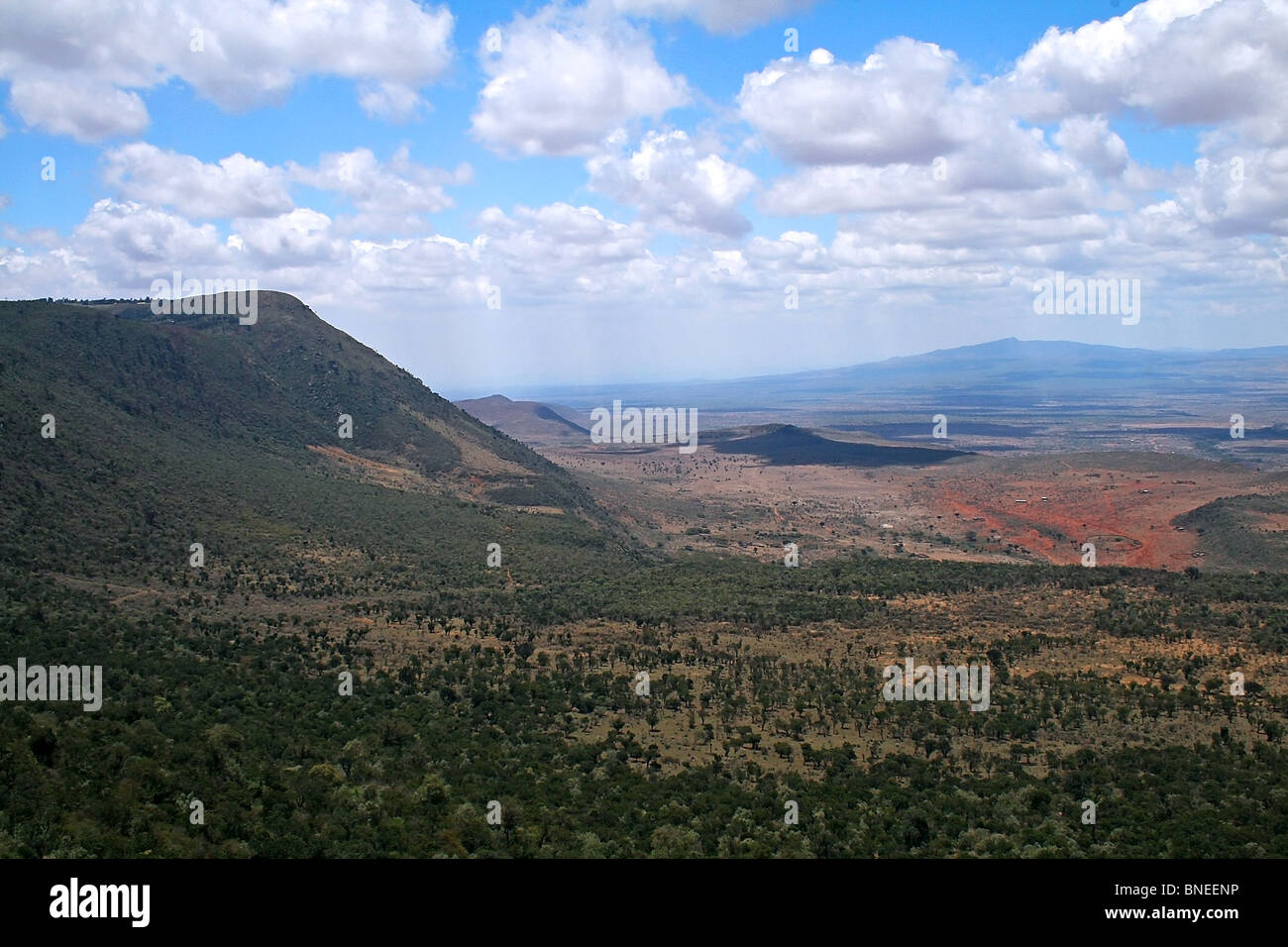 Landscape view of the Great Rift Valley in Kenya, East Africa Stock Photo