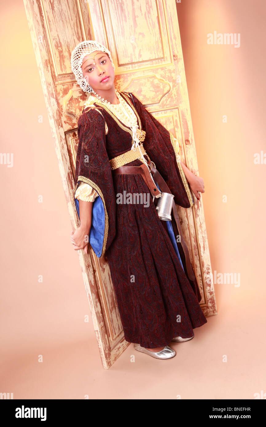 Cute medieval humble feudal vassal - Stock Image