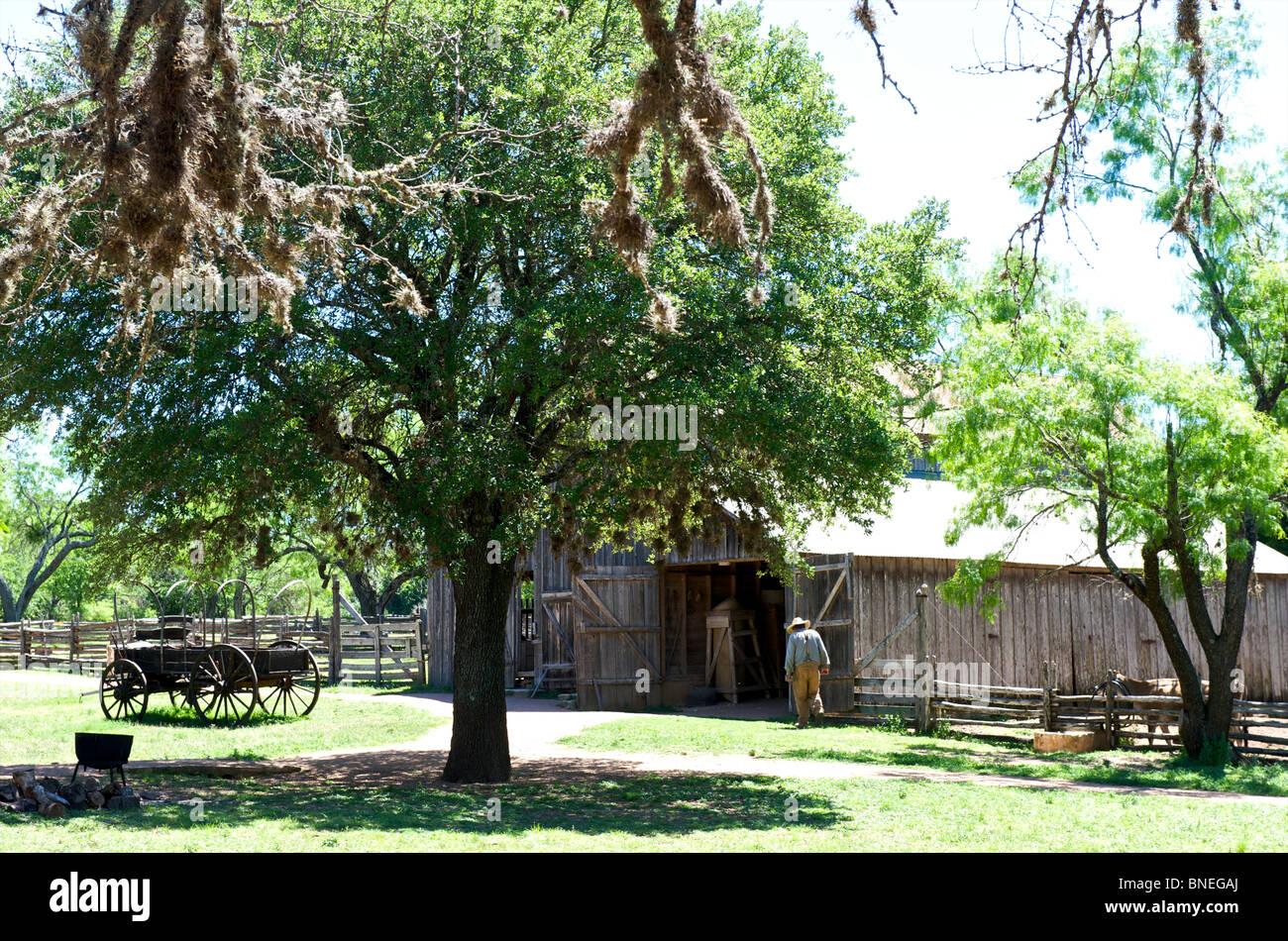 Sauer Becker Farm of the LBJ historic park and ranch Johnson City, Texas, USA - Stock Image