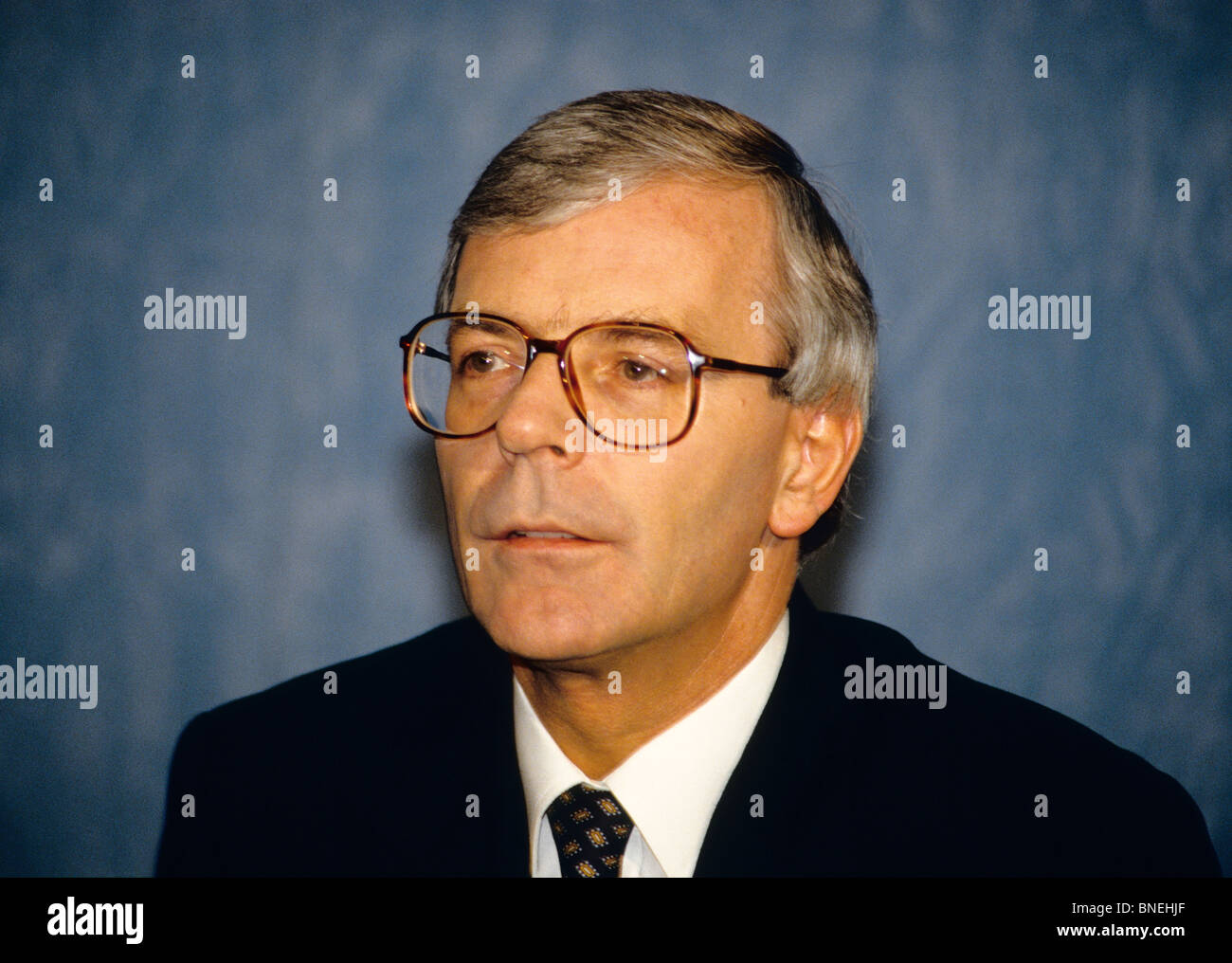 Sir John Major, KG, CH, ACIB (born 29 March 1943) is a British politician, who served as Prime Minister of the United - Stock Image