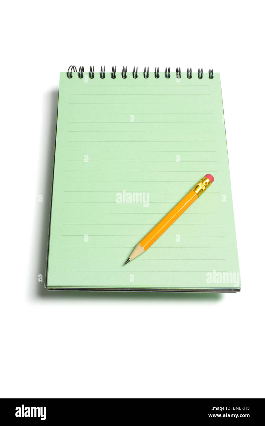 Note Pad and Pencil - Stock Image